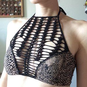 ACACIA Swimwear Panama Snake-print Halter Top